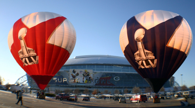 Super Bowl XLV Hot Air Balloons at Cowboy Stadium